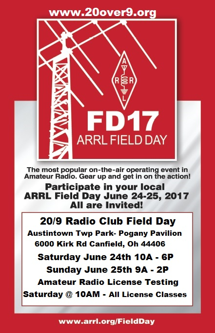 Field Day Informaiton Posted